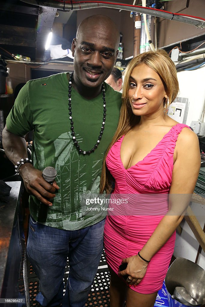 Promoter Tali Gore (L) and guest attend Talib Kweli's Album Release Party at Greenhouse on May 7, 2013, in New York City.
