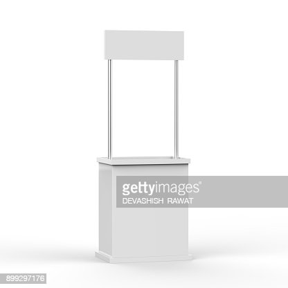 Promotion counter on isolated white background : Stock Photo