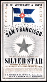 A promotional card for the cllipper ship Silver Star sailing for San Francisco and the California gold fields was printed on coated stock by Nesbit...