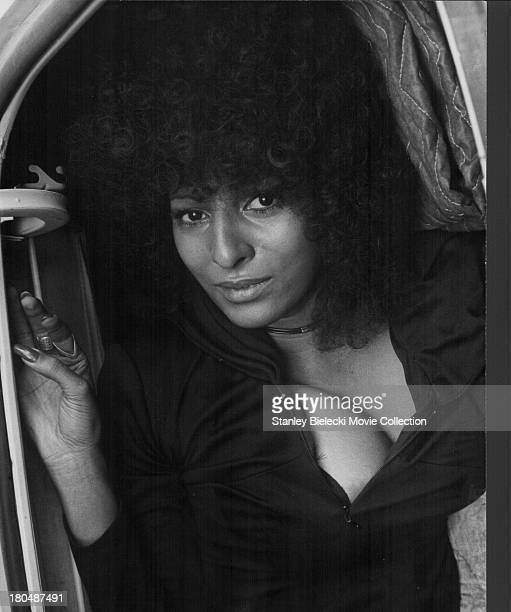 Promotional headshot of actress Pam Greer as she appears in the movie 'Hit Man' 1972