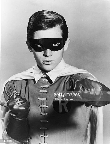 Promotional portrait of American actor Burt Ward as Robin for the television program 'Batman' c 1967