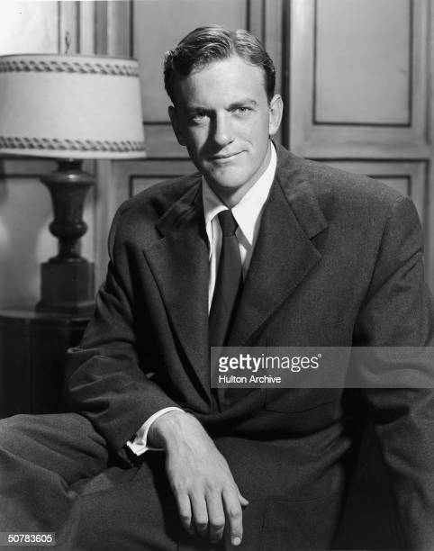 Promotional portrait of American actor James Arness 1950s