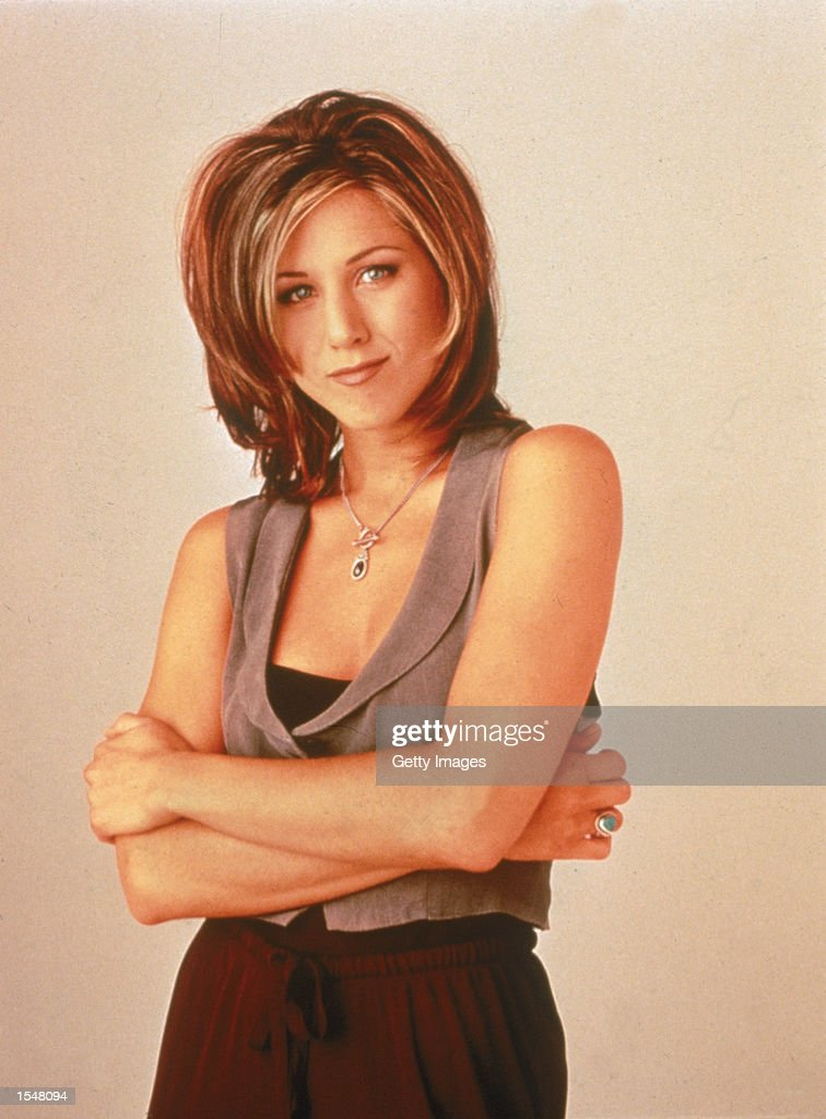 Promotional portrait of American actor Jennifer Aniston for the television series 'Friends' c 1995