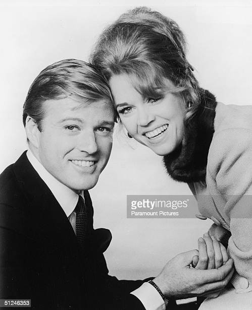 1967 Promotional portrait of American actors Robert Redford and Jane Fonda for the film 'Barefoot in The Park' directed by Gene Saks