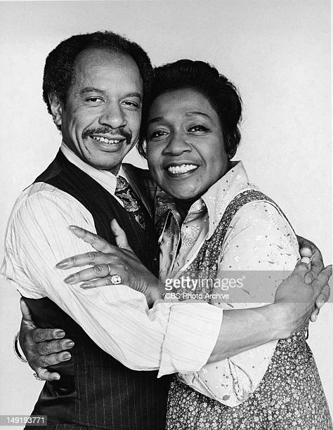 Promotional portrait of American actors Sherman Hemsley and Isabel Sanford embracing for the television series 'The Jeffersons' 1974 Actor Sherman...