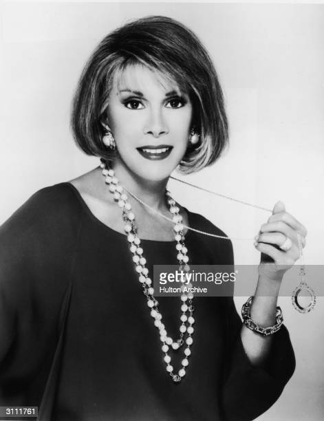Promotional portrait of American comedian and actor Joan Rivers 1980s
