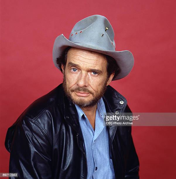 Promotional portrait of American country music singer and guitarist Merle Haggard 1987