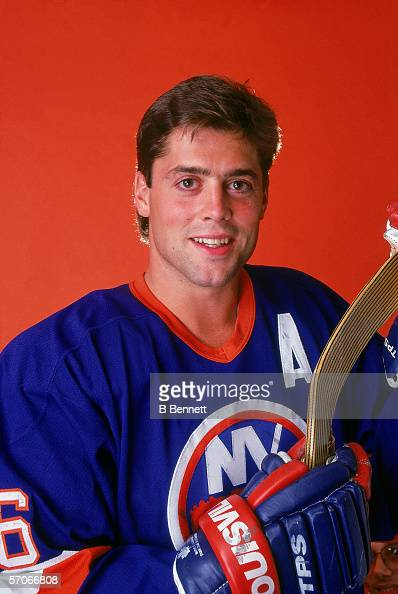Promotional portrait of American hockey player Pat LaFontaine of the New York Islanders June 1991
