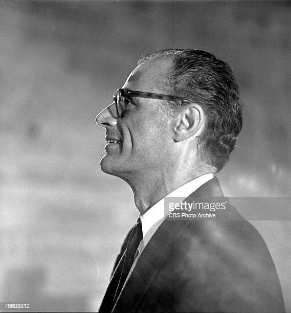 Promotional portrait of American playwright Arthur Miller for an appearance on 'Lincoln Center Day' September 10 1964 The program was a five part...