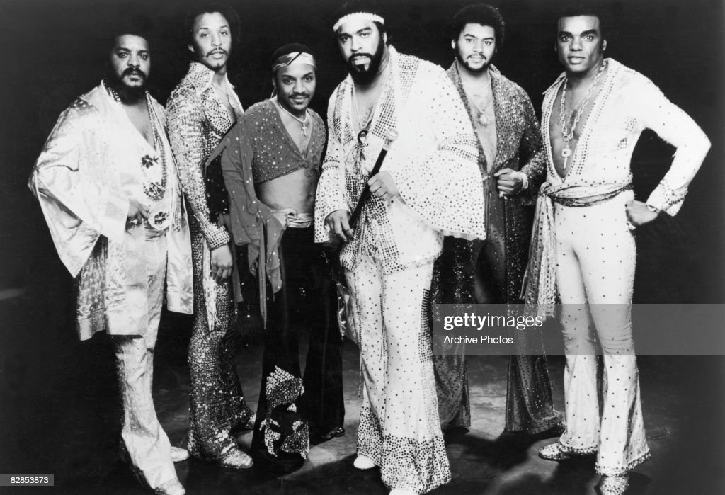 Promotional portrait of American rock, soul and funk band The Isley Brothers, 1970s.