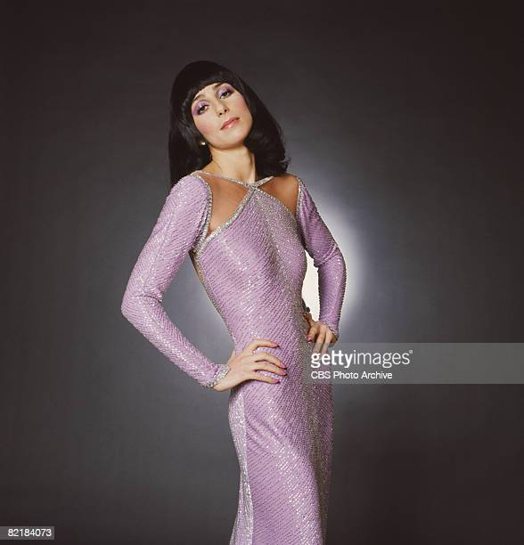 Promotional portrait of American singer and actress Cher for the television variety show 'The Sonny and Cher Comedy Hour' 1972