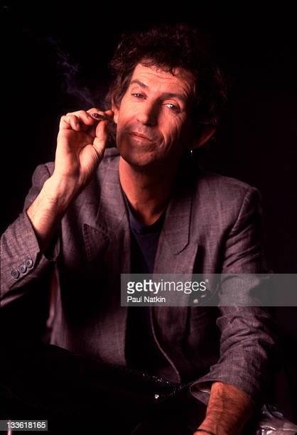 Promotional portrait of British musician Keith Richards of the Rolling Stones in support of the band's 'Steel Wheels' tour late 1989