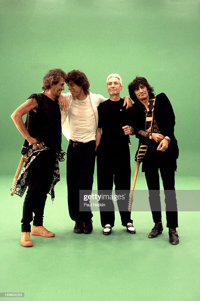 Promotional portrait of British musicians The Rolling Stones, from left, <a gi-track='captionPersonalityLinkClicked' href=/galleries/search?phrase=Keith+Richards+-+Musician&family=editorial&specificpeople=202882 ng-click='$event.stopPropagation()'>Keith Richards</a>, <a gi-track='captionPersonalityLinkClicked' href=/galleries/search?phrase=Mick+Jagger&family=editorial&specificpeople=201786 ng-click='$event.stopPropagation()'>Mick Jagger</a>, <a gi-track='captionPersonalityLinkClicked' href=/galleries/search?phrase=Charlie+Watts&family=editorial&specificpeople=213325 ng-click='$event.stopPropagation()'>Charlie Watts</a>, and <a gi-track='captionPersonalityLinkClicked' href=/galleries/search?phrase=Ron+Wood+-+Musician&family=editorial&specificpeople=208076 ng-click='$event.stopPropagation()'>Ron Wood</a>, in support of the band's 'Voodoo Lounge' tour, late 1994.