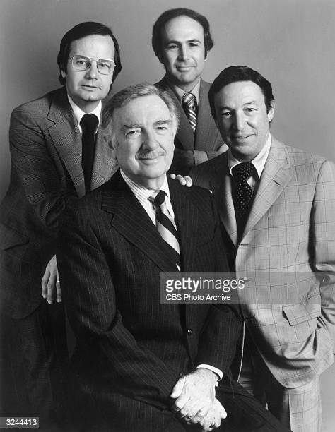Promotional portrait of CBS News Correspondents covering the Republican National Conventionat the Kemper Arena in Kansas City Missouri Bill Moyers...