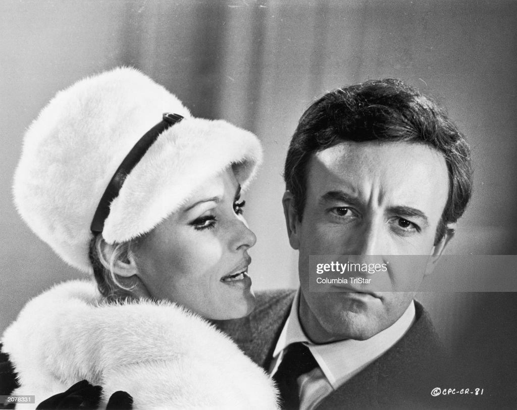 Promotional portrait of Swiss born actor Ursula Andress and British actor Peter Sellers (1925 - 1980) for the film, 'Casino Royale,' directed by Val Guest, Kenneth Hughes, John Huston, Joseph McGrath, and Robert Parish, 1967.