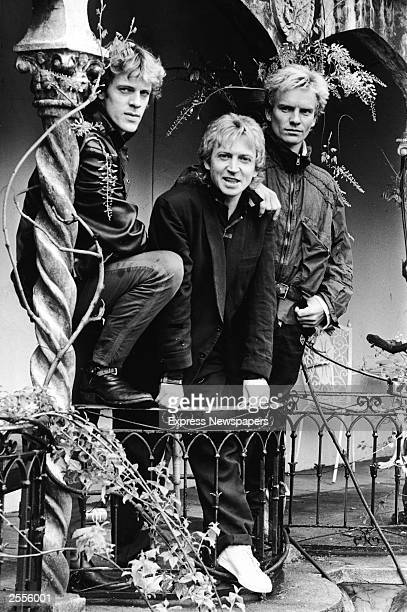 A promotional portrait of the British rock band The Police Stewart Copeland Andy Summers and Sting circa 1980