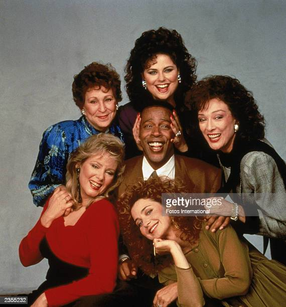 Promotional portrait of the cast of the television series 'Designing Women' c 1987 Clockwise from bottom left Jean Smart Alice Ghostley Delta Burke...