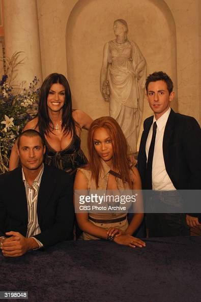 Promotional portrait of the judges on the UPN television series 'America's Next Top Model' Milan Italy October 17 2003 Left to right British fashion...