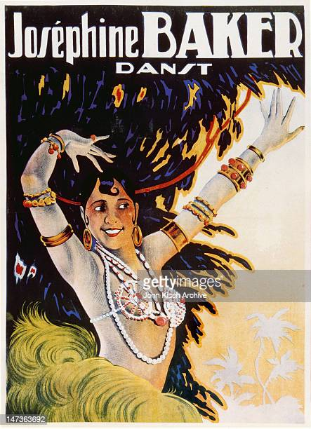 Promotional poster advertises Josephine Baker 'Danst' 1930s