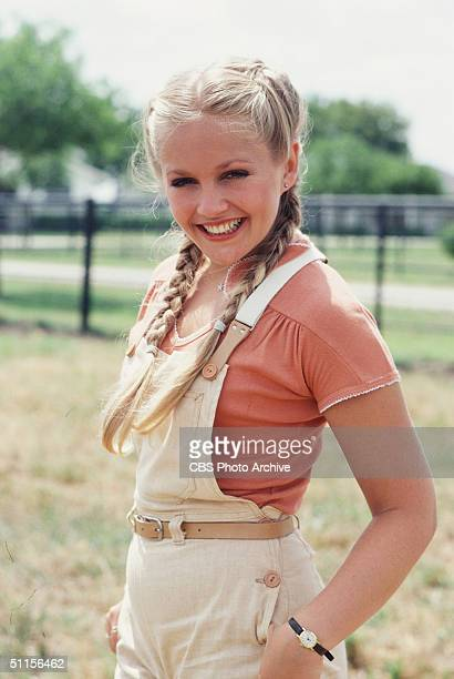 A promotional still from the American television series 'Dallas' shows American actress Charlene Tilton who plays Lucy Ewing July 1979