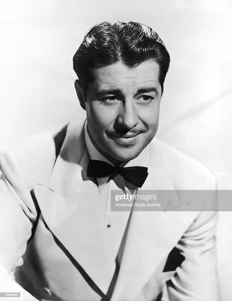 Promotional studio portrait of American actor <a gi-track='captionPersonalityLinkClicked' href=/galleries/search?phrase=Don+Ameche&family=editorial&specificpeople=214190 ng-click='$event.stopPropagation()'>Don Ameche</a> (1908 - 1993), 1940s.