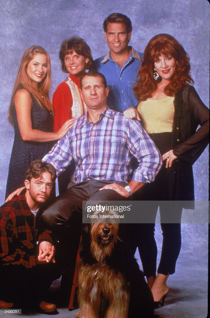 Promotional studio portrait of the cast of the television series 'MarriedWith Children' circa 1994 LR David Faustino Christina Applegate Amanda...