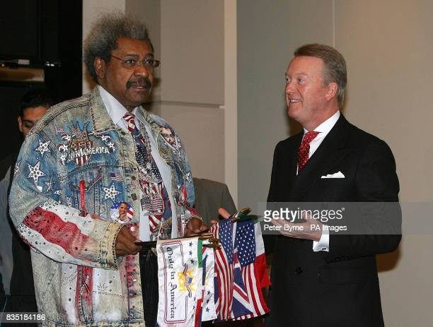 Promotors Don King and Frank Warren during the head to head at the Radisson Edwardian Hotel Manchester