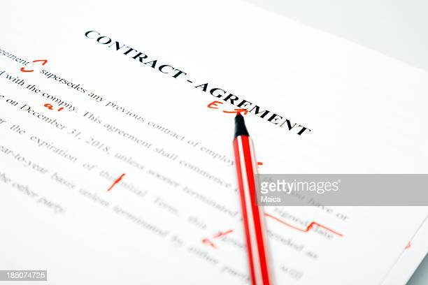 Proofreaded contract