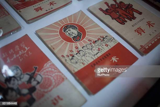 A propaganda post card during the cultural revolution is displayed at the Propaganda Art Museum in Shanghai China May 17 2016 The Propaganda Art...