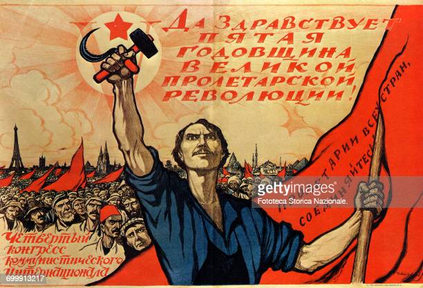 propaganda poster by Ivan Simakov Colour lithograph Russia Moscow 1922