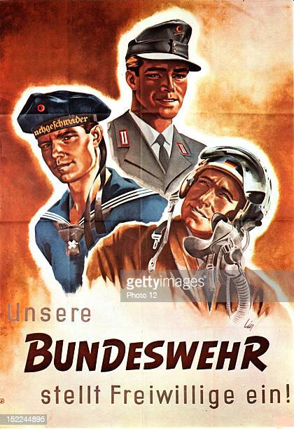 Propaganda poster for enlisting in the German Army c 195960 Germany Private collection