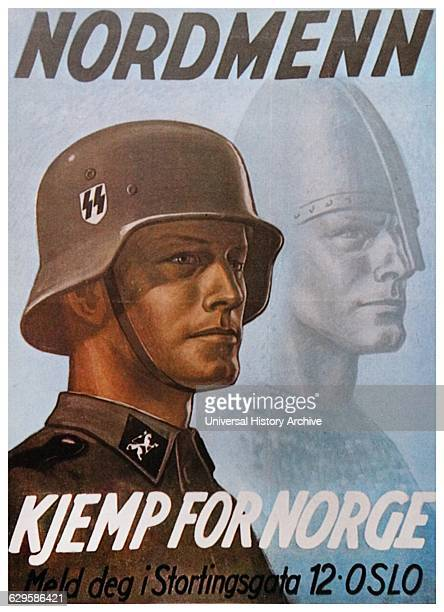 Propaganda poster inviting Norwegians to join the SS They will have little success Dated 1941