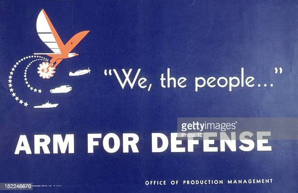 Propaganda poster on armament 20th United States World War II Private collection