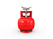 propane cylinder with compressed gas 3d illustration.