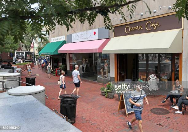 Properties at 1741A Brattle Street are pictured in Harvard Square in Cambridge MA on Jul 18 2017 The family trusts that own the properties is...