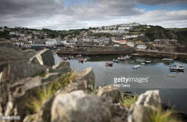 Properties overlook the harbour in the village of Mevagissey which has submitted plans to limit the number of second homes on October 9 2017 in...