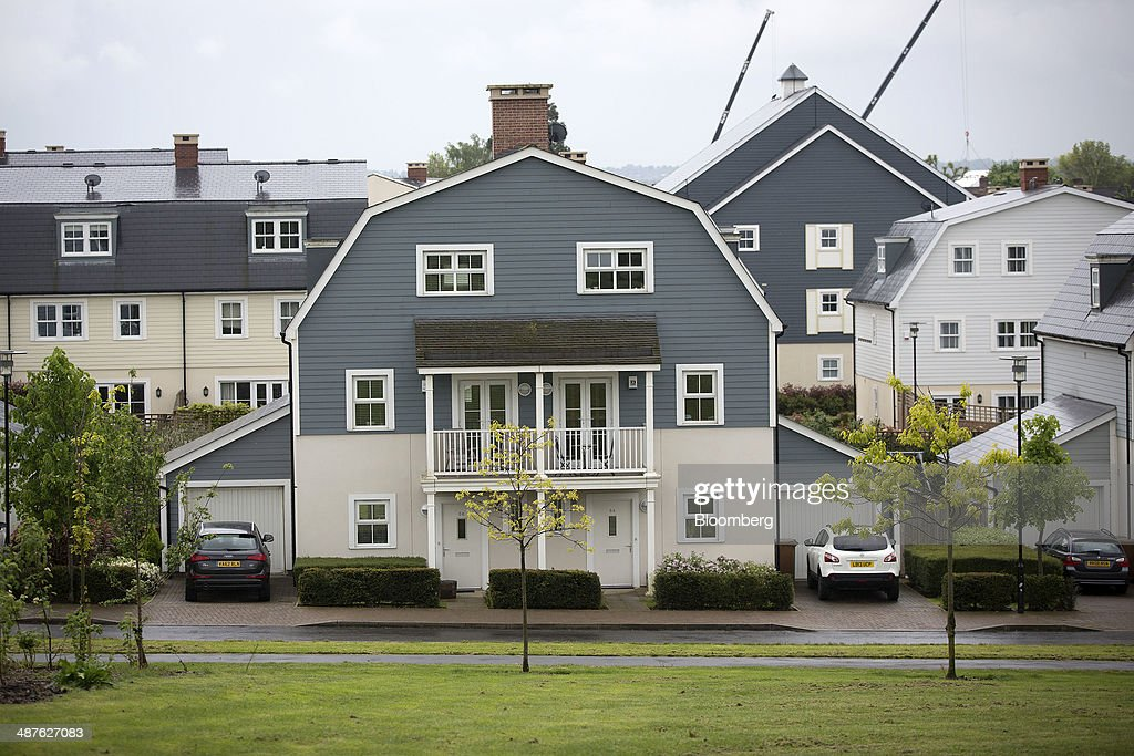 Properties Stand In A Development Of New England Style Residential Homes Known As The Hamptons