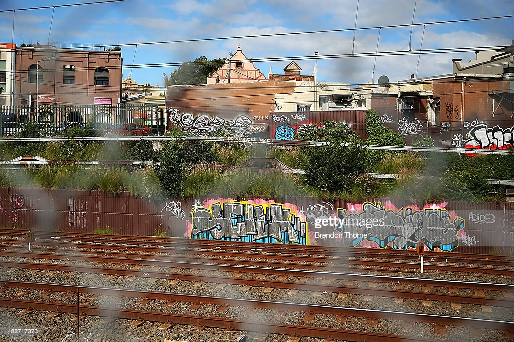 Properties strewn with graffiti are seen on May 8, 2014 in Sydney, Australia. The Grafitti Control Amendment Act passed in the NSW legislative council yesterday includes tougher penalties a the ability for local courts to enforce community clean up duty on offenders.
