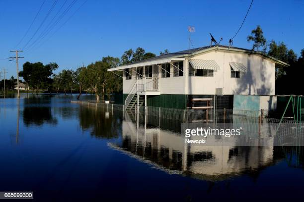 ROCKHAMPTON QLD Properties surrounded by floodwaters at Depot Hill in Rockhampton Queensland after the Fitzroy River burst its banks in the aftermath...