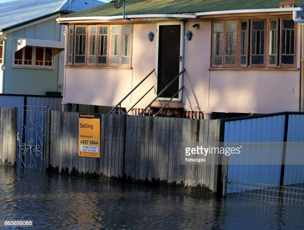 ROCKHAMPTON QLD Properties surrounded by floodwaters in Rockhampton Queensland after the Fitzroy River burst its banks in the aftermath of Tropical...