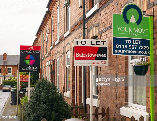 Property agent signs in England