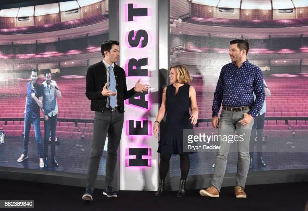 Property Brothers Jonathan Scott Drew Scott and Editor in Chief HGTV Magazine Sara Peterson speak onstage Hearst Magazines' Unbound Access MagFront...