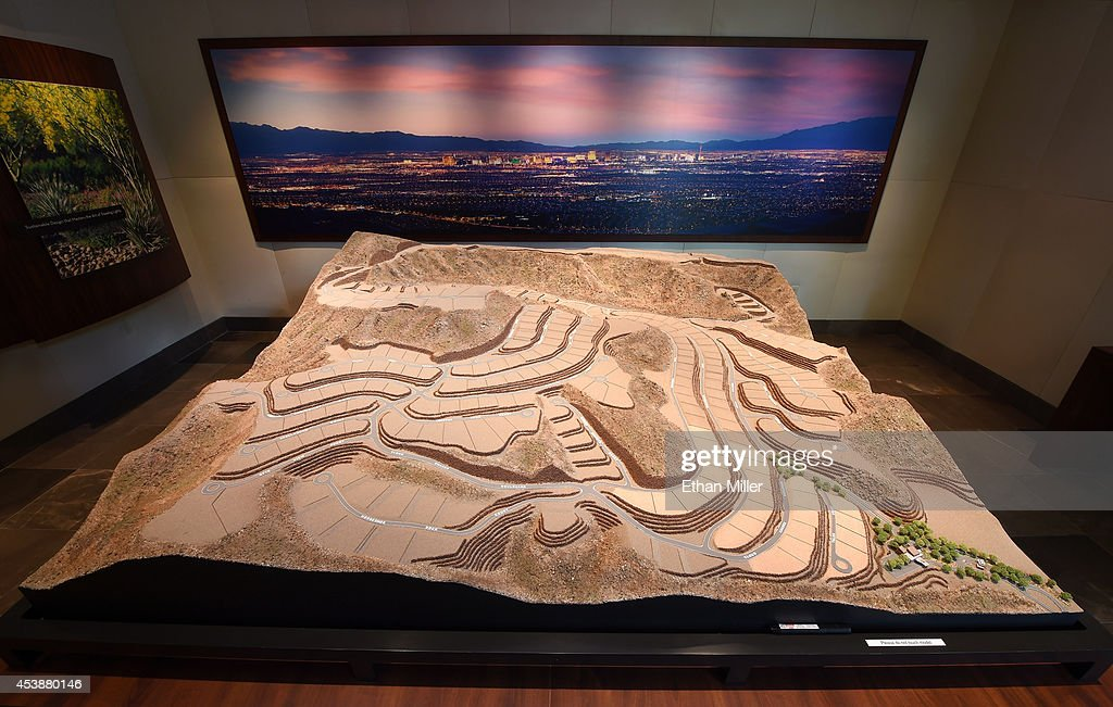 A property model is displayed in the sales center at Ascaya, Nevada's premier luxury home development, on August 20, 2014 in Henderson, Nevada. Ascaya, featuring 313 luxury estate home sites nestled atop the McCullough Range, opened its sales center and began accepting reservations on Wednesday.