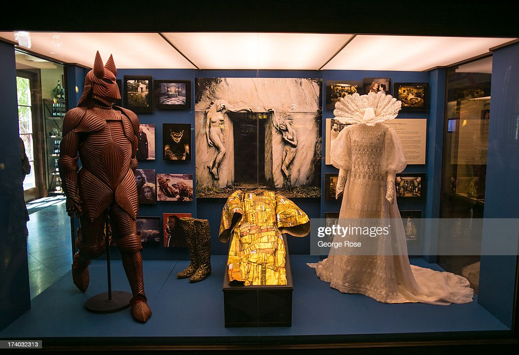 Props used in the film 'Bram Stoker's Dracula' are on display at the Francis Ford Coppola Winery on July 13 near Geyserville California The winery...