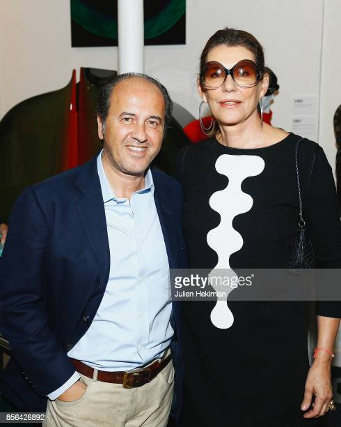 Propser Assouline and his wife Martine Assouline attend the 'Pierre Cardin' By JeanPascal Hesse Book Signing At Pierre Cardin Museum as part of the...