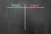 Pros and cons empty list concept on blackboard