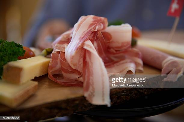 Prosciutto and cheese