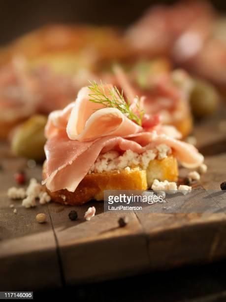 Prosciutto and Feta Canapes