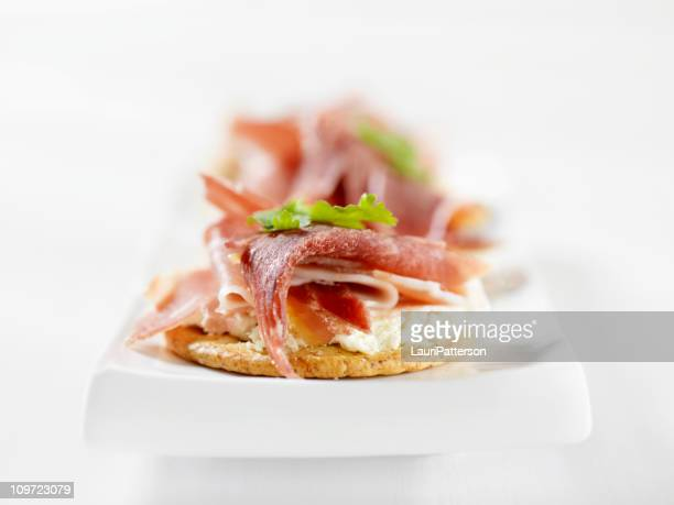 Prosciutto Canapes with Cream Cheese