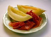 Prosciutto e melone (melon and ham appetiser, Italy)